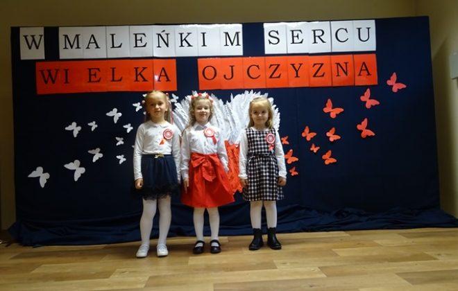"""Międzyprzedszkolny Konkurs pieśni i piosenek patriotycznych  """"W maleńkim sercu wielka Ojczyzna"""""""